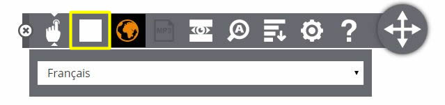Figure 10: Using the stop button on the Browsealoud toolbar